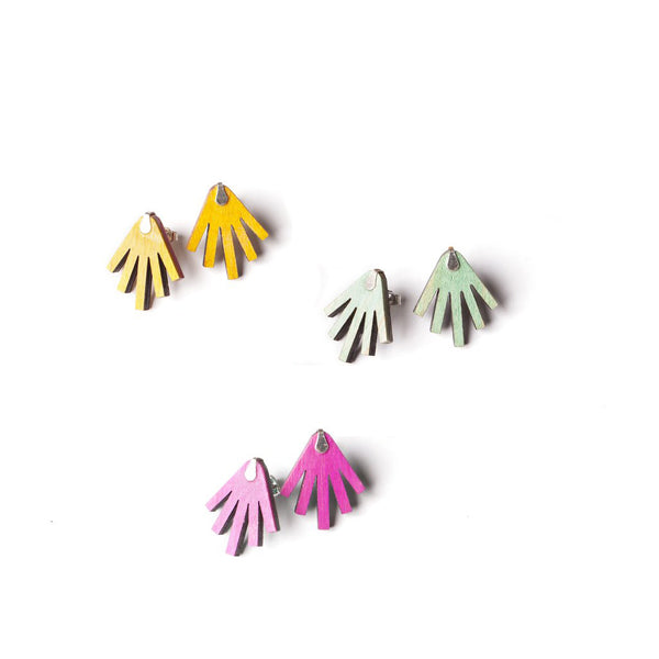 Valecito Earrings | Recycled Skateboards