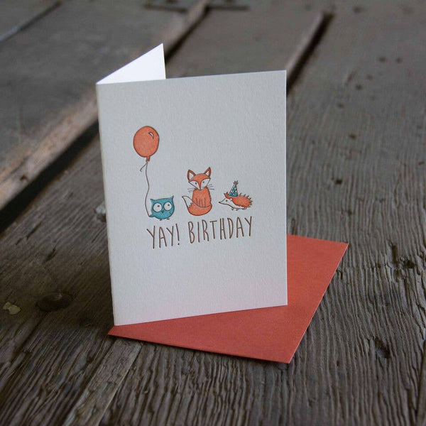 Yay! Birthday (Letterpress)