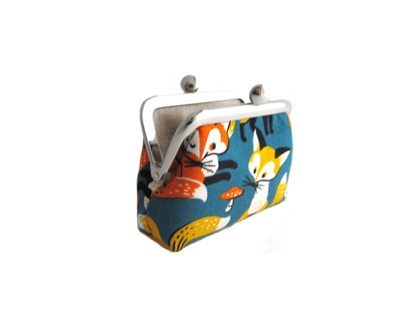 Mini Pouch | Jewelry Case - Foxes