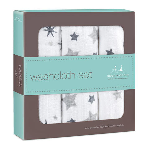 Aden + Anais - Washcloth Set in Twinkle - 3 Pack