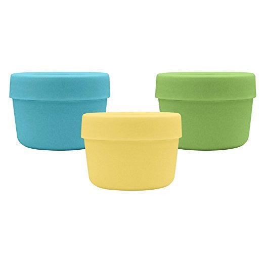 Green Sprouts - Sprout Ware Snack Cups made from Plants, Aqua Set, 3 count