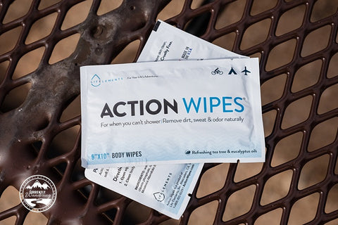 Action Wipes - No shower no Problem - Festivals, camping, hiking - no sweat!