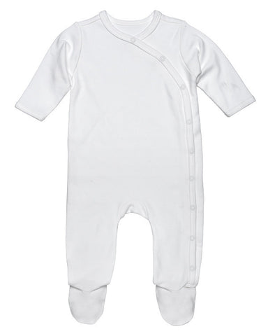 Under the Nile - Side Snap Footie in Off-White, 0-3 Months