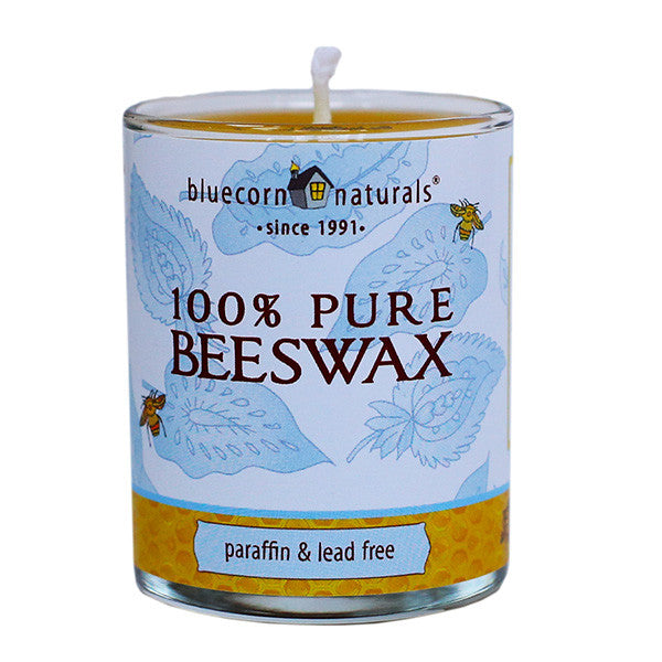 100% Pure Beeswax Glass Candles