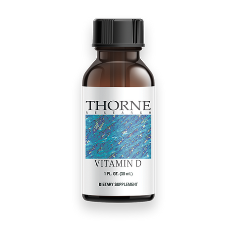 Thorne Professional Grade Liquid Vitamin D3 - No Sugar - preserved by natural vitamin E