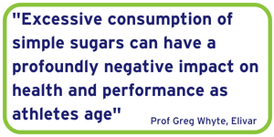 excessive consumption of sugar can have a profoundly negative impact on health and performance as athletes age