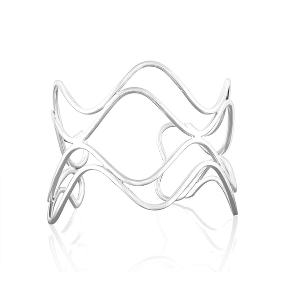BB-1040 Wide Hammered Finish Cuff Bracelet | Teeda