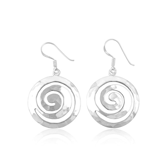 E-1522 Celtic Spiral French Wire Earrings | Teeda
