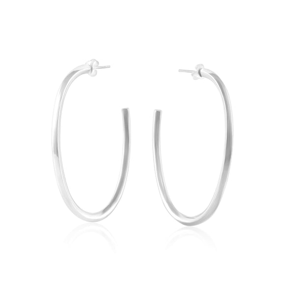 E-1533 Oval Hoop Post Earrings | Teeda