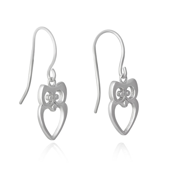 E-7000 Owl French Wire Earrings