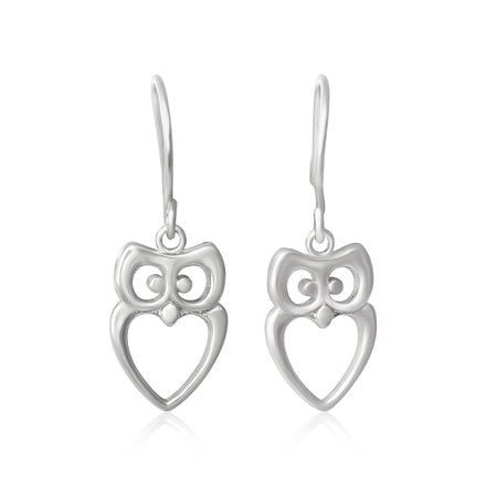 E-7000 Owl French Wire Earrings | Teeda