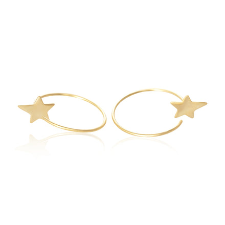 E-7003 Star Ear Wires - Gold Plated | Teeda