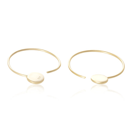 E-7004 Disc Ear Wires - Gold Plated | Teeda