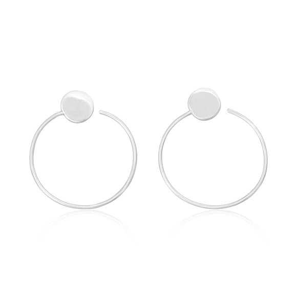 E-7004 Disc Ear Wires - Rhodium Plated | Teeda