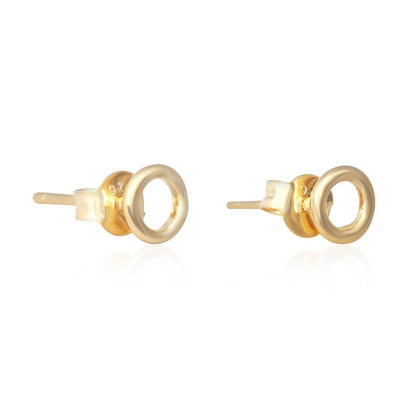 E-7005 Round Loop Stud Earrings