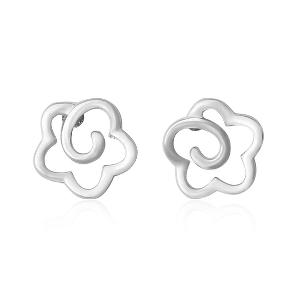 E-7007 Open Flower Stud Earrings | Teeda
