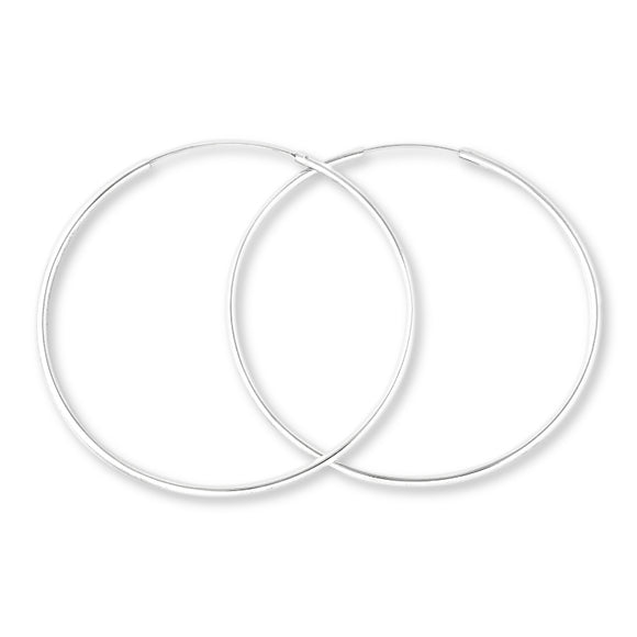 EHC-25 Continuous Hoop Earrings 2.5mm | Teeda