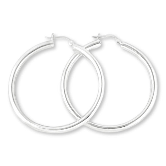 EHS-40 Snap Hoop Earrings 4mm | Teeda