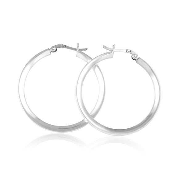 EHS-9012 Round Snap Hoop Earrings