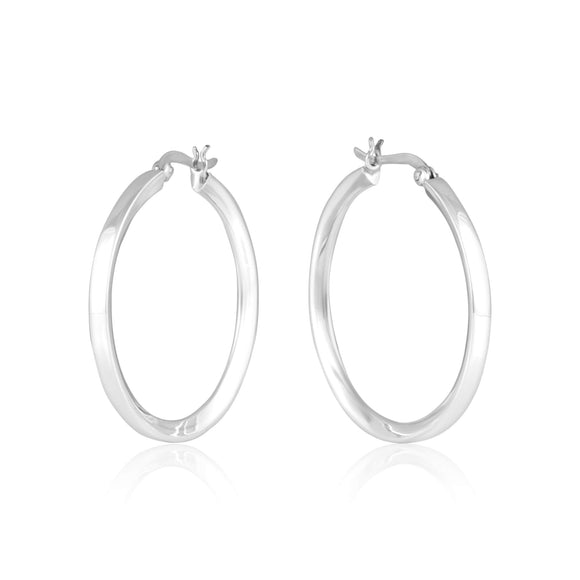 EHS-9012 Round Snap Hoop Earrings | Teeda