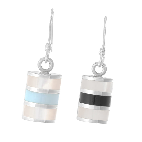 EMOP-1001 Mother of Pearl Inlay Earrings