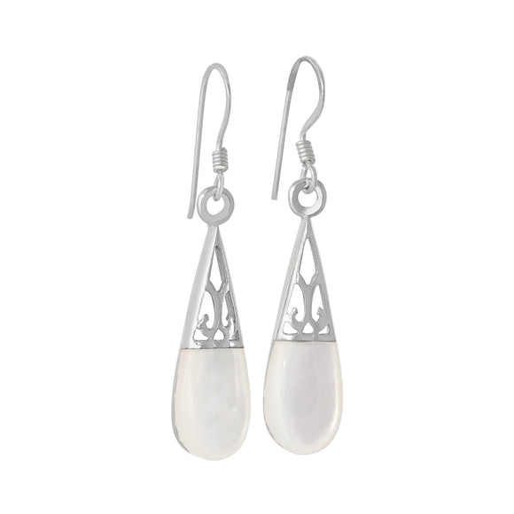 EMOP-1130 Mother of Pearl Inlay Earrings | Teeda
