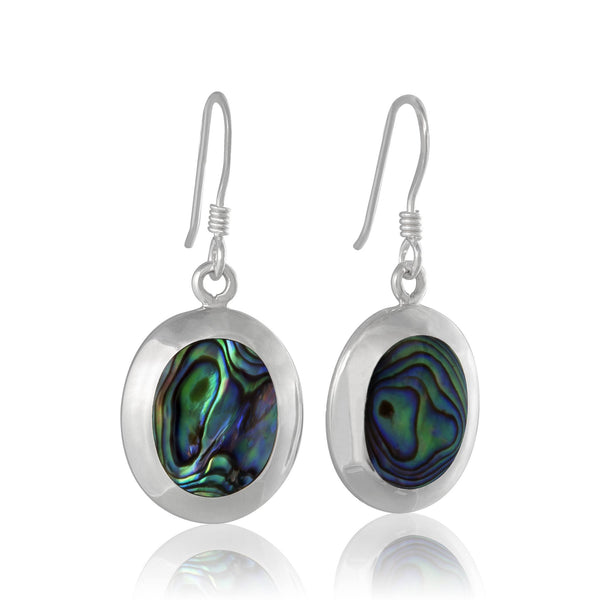 EMOP-1220 Mother of Pearl Inlay Earrings