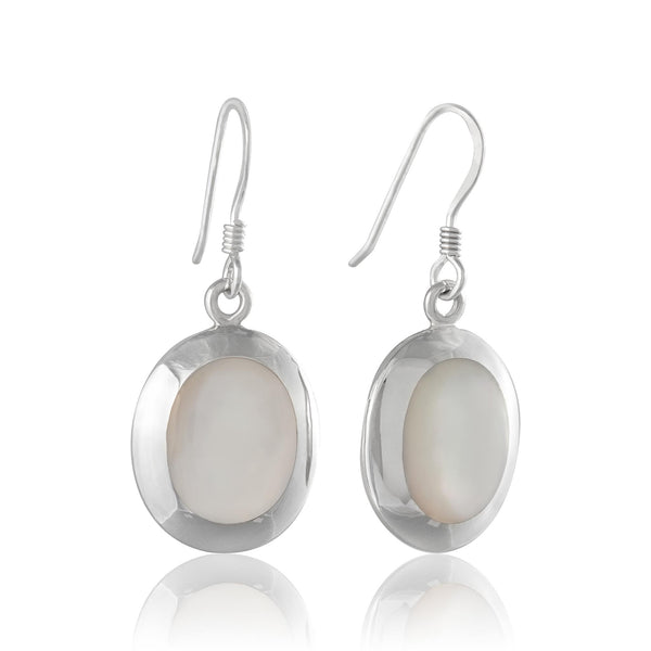 EMOP-1220 Mother of Pearl Inlay Earrings | Teeda