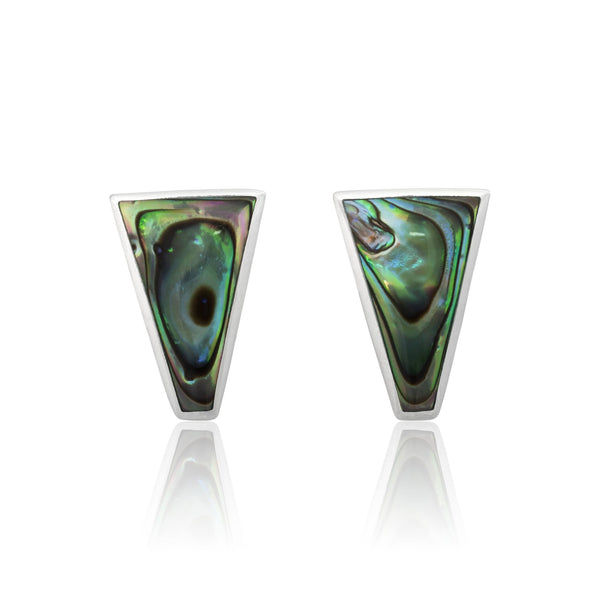 EMOP-1450-A Mother Of Pearl Inlay Earrings - Abalone Shell | Teeda