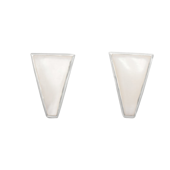 EMOP-1450-P Mother Of Pearl Inlay Earrings - Mother of Pearl | Teeda