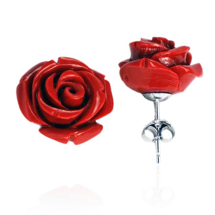 EP-7020 Rose Stud Earrings 15mm | Teeda