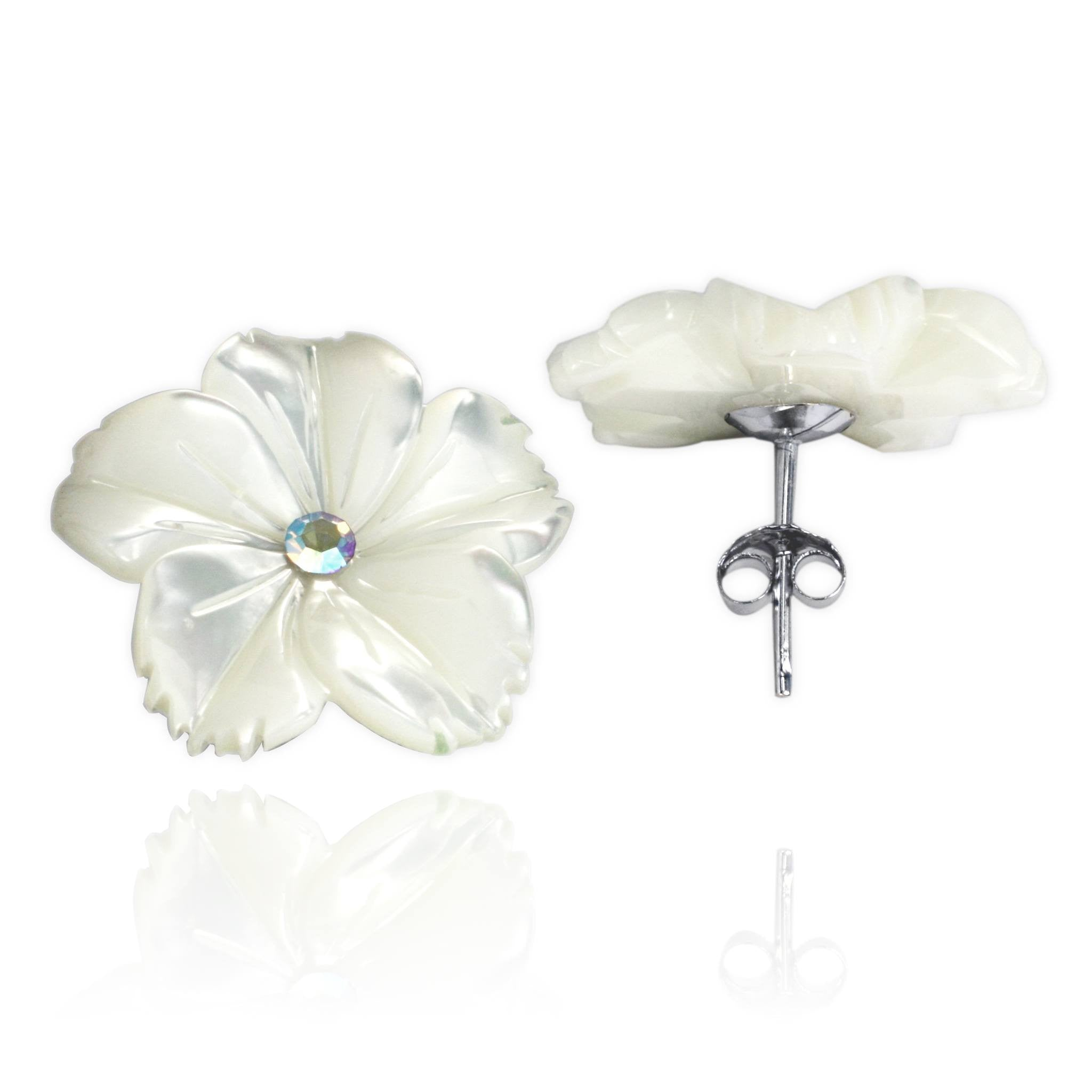 EP-7029 Adenium Stud Earrings | Teeda