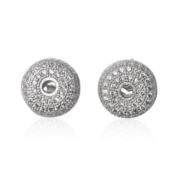EZ-1075 CZ Micropavé Stud Earrings | Teeda