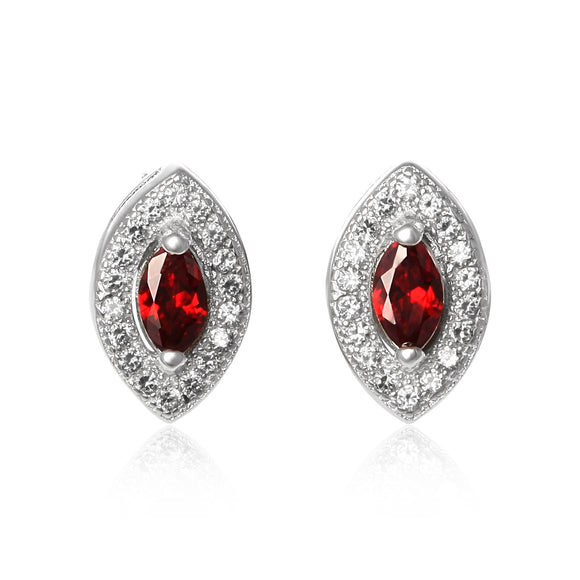 EZ-1079 Micropavé Cubic Zirconia Earrings