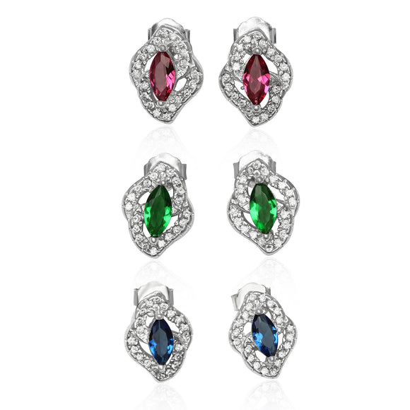 EZ-1081 Micropavé Cubic Zirconia Earrings | Teeda