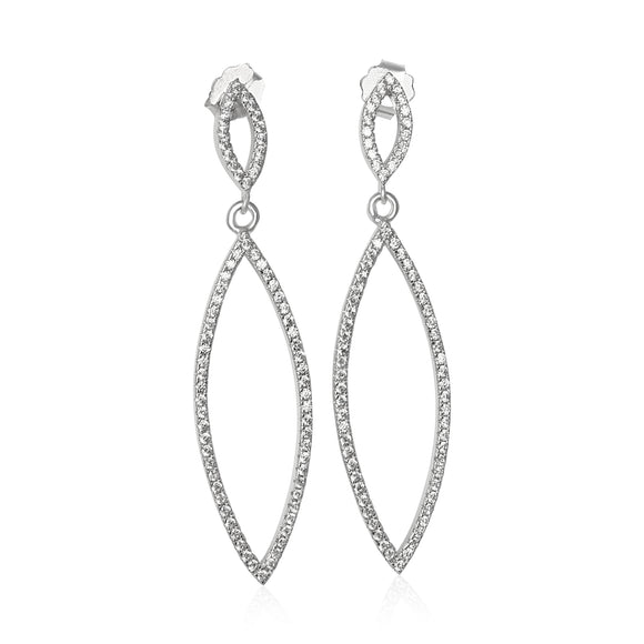 EZ-1095 Micropavé CZ Earrings | Teeda