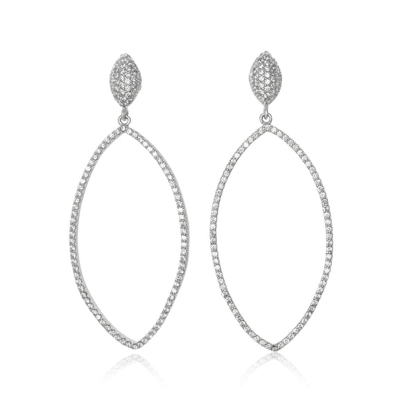 EZ-1097 Micropavé CZ Earrings | Teeda