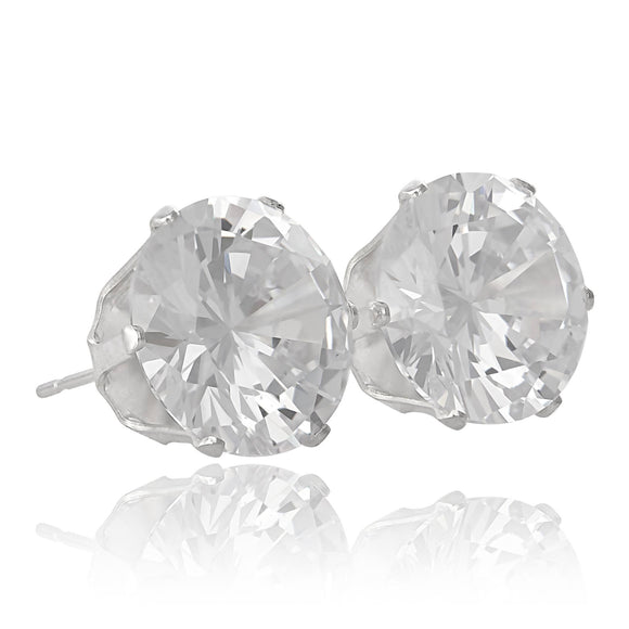 EZ-2040 Round CZ Stud Earrings 5mm | Teeda