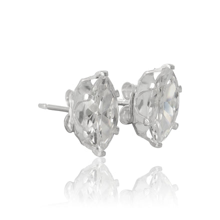 EZ-2330 Marquise CZ Stud Earrings 8x4mm | Teeda