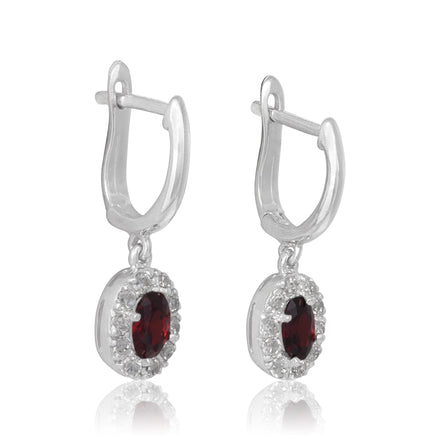 EZ-5010 Callista Oval Cut Leverback CZ Earrings | Teeda