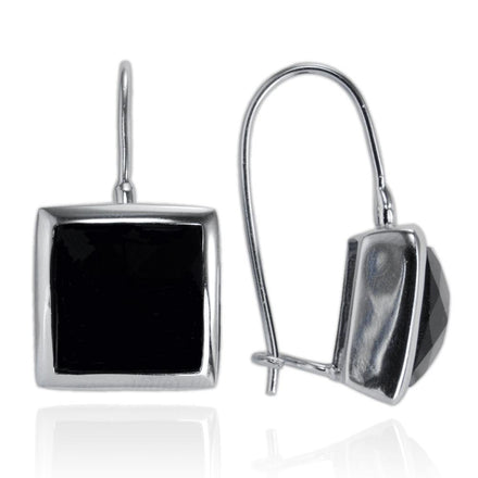 EZ-7024 Bezel Set Square Briolette Earrings | Teeda