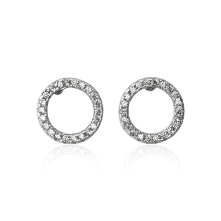 EZ-7027 Endless Circle Cubic Zirconia Earrings | Teeda