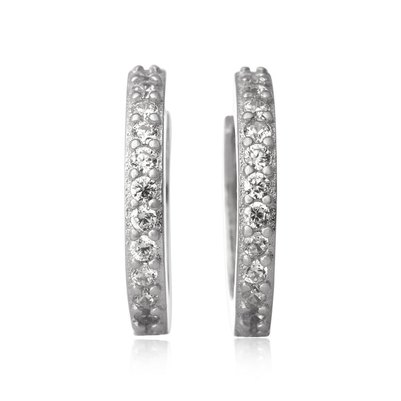 EZ-7035 Cubic Zirconia Huggie Earrings