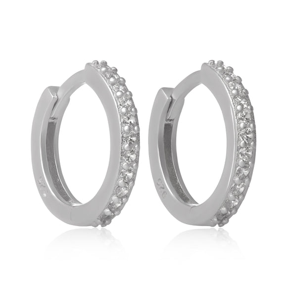 EZ-7035 Cubic Zirconia Huggie Earrings | Teeda