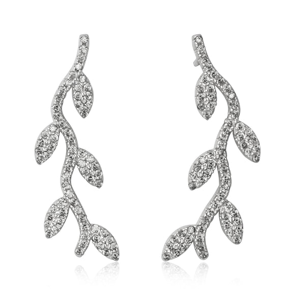 EZ-7059 Vine Cubic Zirconia Earrings | Teeda