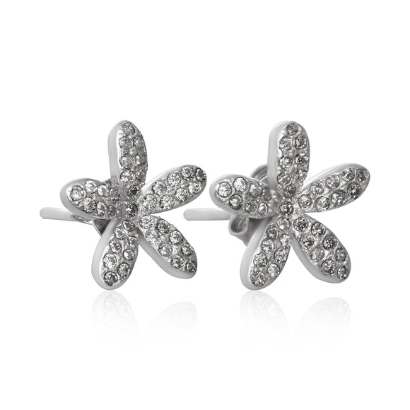 EZ-7063 Daisy Cubic Zirconia Earrings
