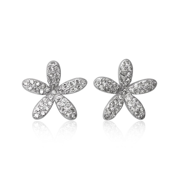 EZ-7063 Daisy Cubic Zirconia Earrings | Teeda