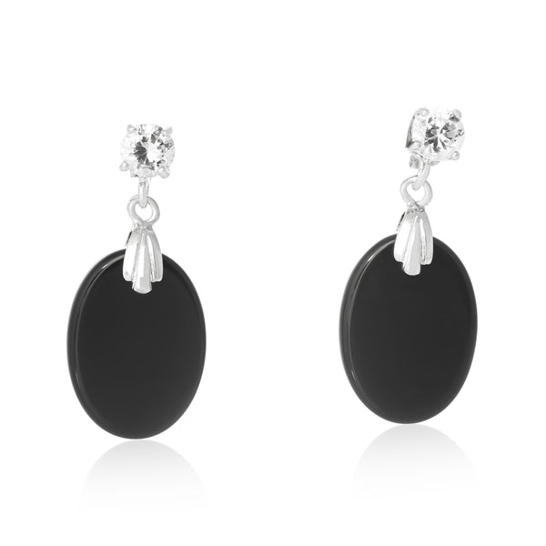 EZP-7019 Oval Dangle Earrings