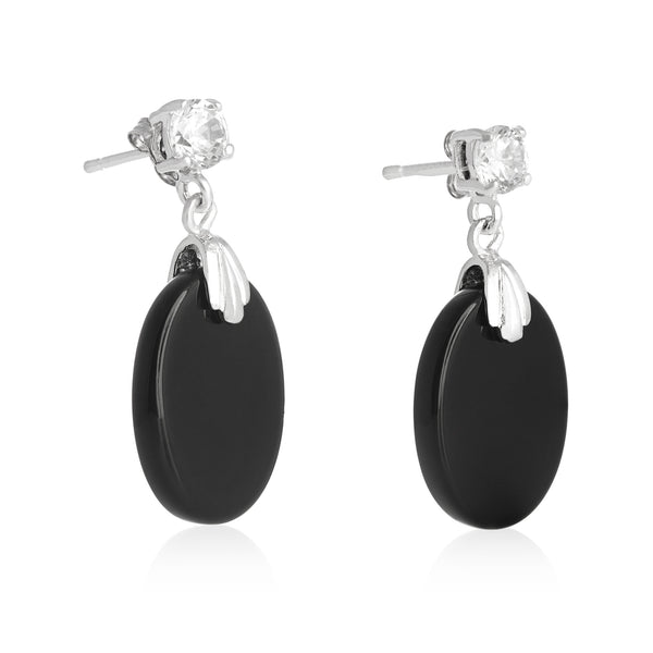 EZP-7019 Oval Dangle Earrings | Teeda
