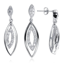 MAZ-7032 Dangle CZ Earring Pendant Set | Teeda